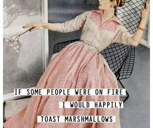 quotes, fire, and marshmallow image