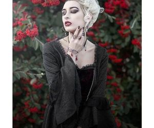 beauty, color hair, and goth image
