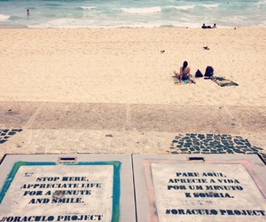 beach, brasil, and ocean image