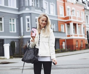 architecture, blonde hair, and coffee cup image