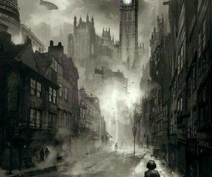 dark, steampunk, and victorian image