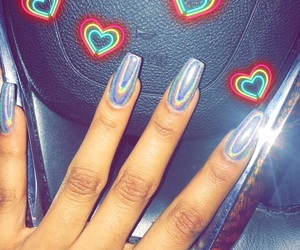 holographic, nails, and holo image