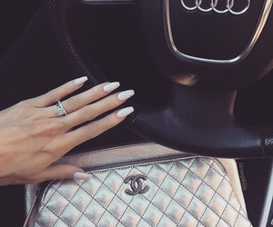 car, chanel, and nails image