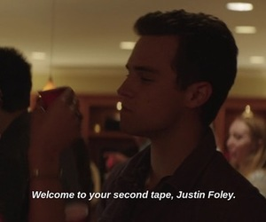 13 reasons why, justin foley, and hannah baker image