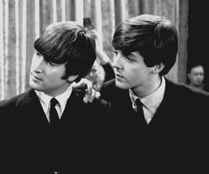 Paul McCartney, beatles, and john lennon image