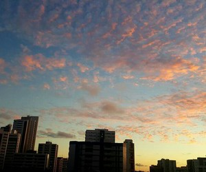 clouds, sunset, and buildings image