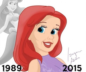 aged, ariel, and princesses image