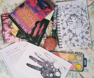 art, books, and drawing image