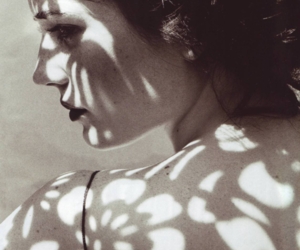 eva green, black and white, and shadow image