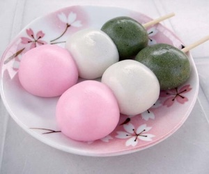 food, sweet, and dango image