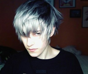 boy, hair, and instagram image