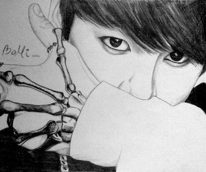 draw, jungkook, and bts image
