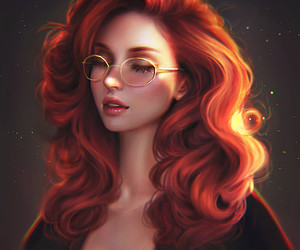 girl, art, and glasses image