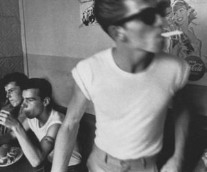 boy, black and white, and smoke image