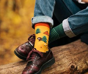 etsy, socks, and yellow socks image