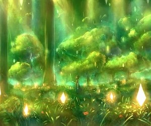 tree, anime, and forest image