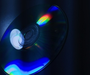black, blue, and cd image