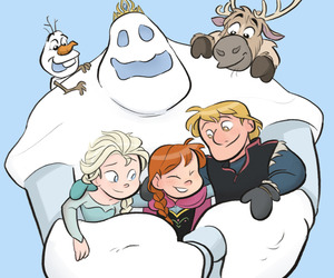 frozen, anna, and marshmallow image