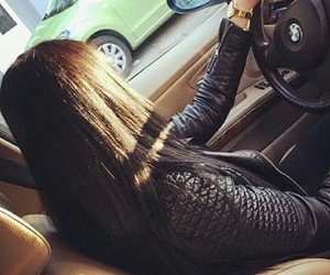 bmw, brunette, and girl image
