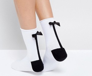 ankle, black & white, and seam image