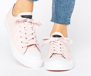 chuck taylor, converse, and pink image
