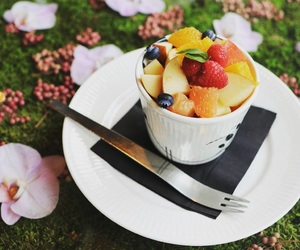 cafe, flower, and food image