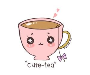 tea, cup, and kawaii image