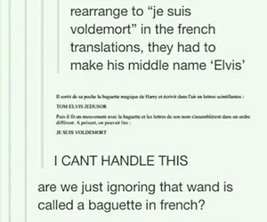 french, funny, and harry potter image
