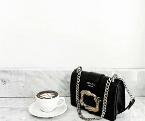 accessories, coffee, and Prada image