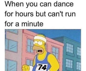 run, dance, and funny image