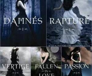 book, dark, and FALLEN ANGELS image