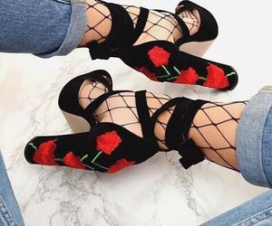 fashion, shoes, and rose image