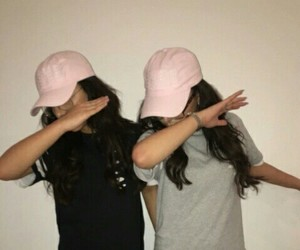 girl, dab, and friends image