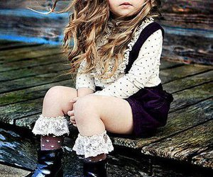 little girl, long hair, and very cute image
