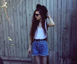 girl, hat, and cool image