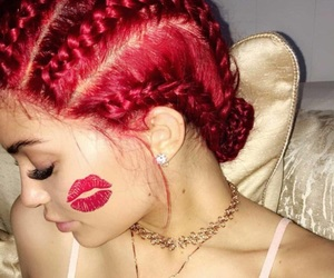 kylie jenner, red, and hair image