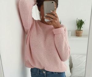 fashion, girl, and phone image