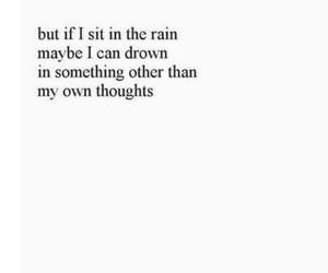 quote, rain, and sad image