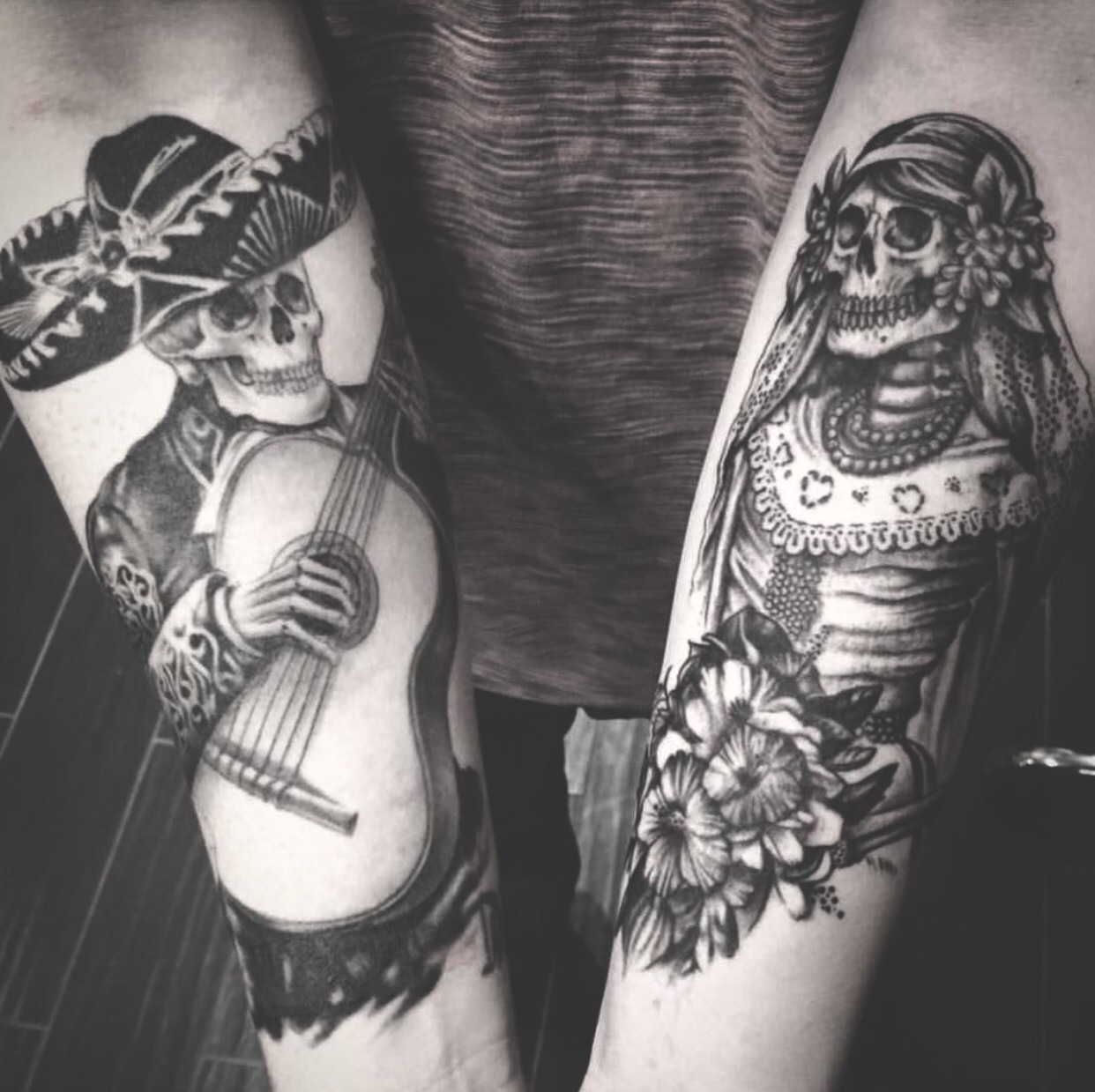 Awesome Dia De Los Muertos Tattoo Made At The High Voltage