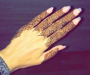 arabic, nails, and fashion image
