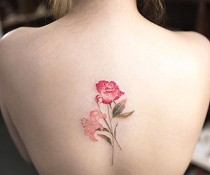 back, flower, and beauty image