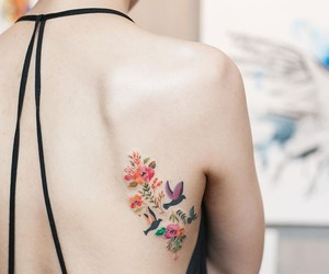 birds, tattoo, and fancy image