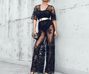 black and gold, chic, and fashion image