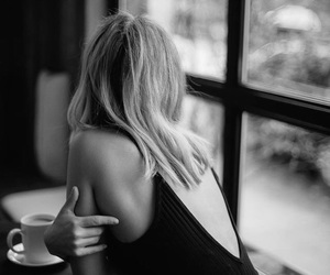 black and white, black, and coffee image