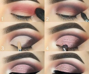 makeup, pink, and style image