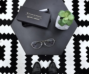 carpet, glasses, and green plants image