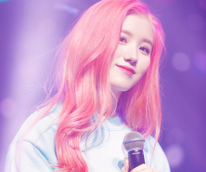 pink hair, pledis, and xiyeon image