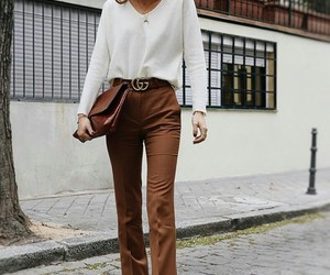 brown, gucci, and pant image
