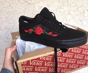 vans, rose, and fashion image