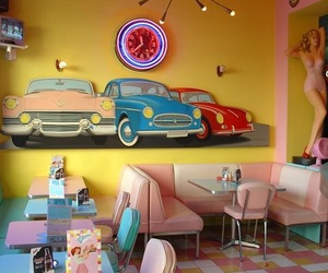 vintage, diner, and retro image